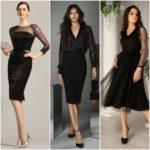 Looks en negro para coctel elegantes y modernos