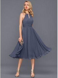 Vestido de cotel azul