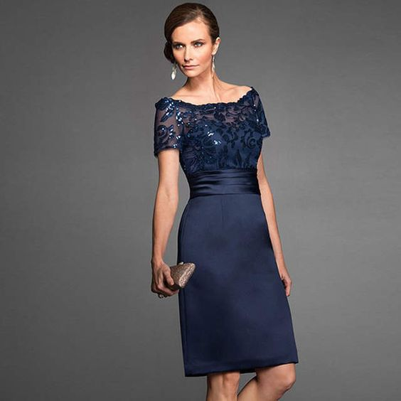 Vestido de cotel formal azul
