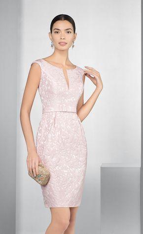 Vestido formal rosa para coctel