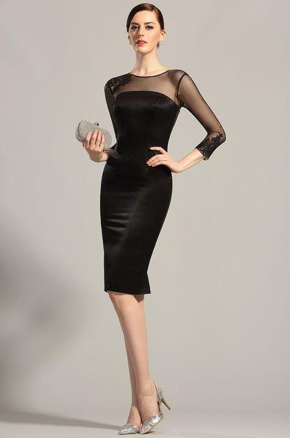 Vestido negro para coctel