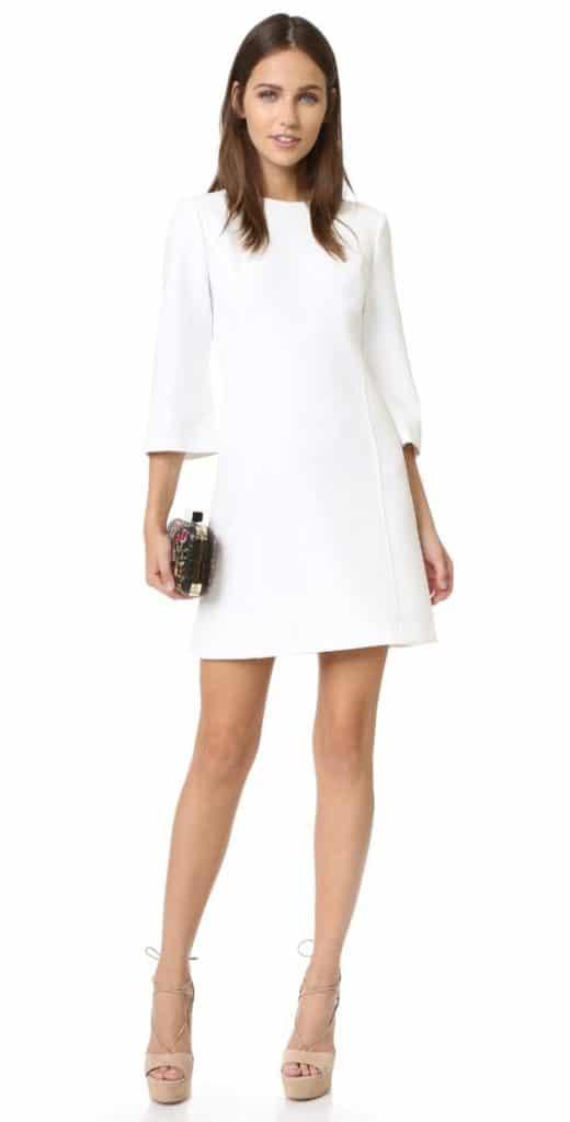 Vestido para cotel blanco de verano