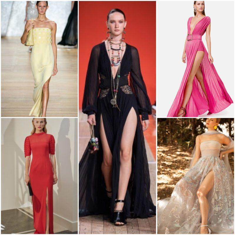 Vestidos con largos tajos laterales Ropa Moda noche fiesta 2021