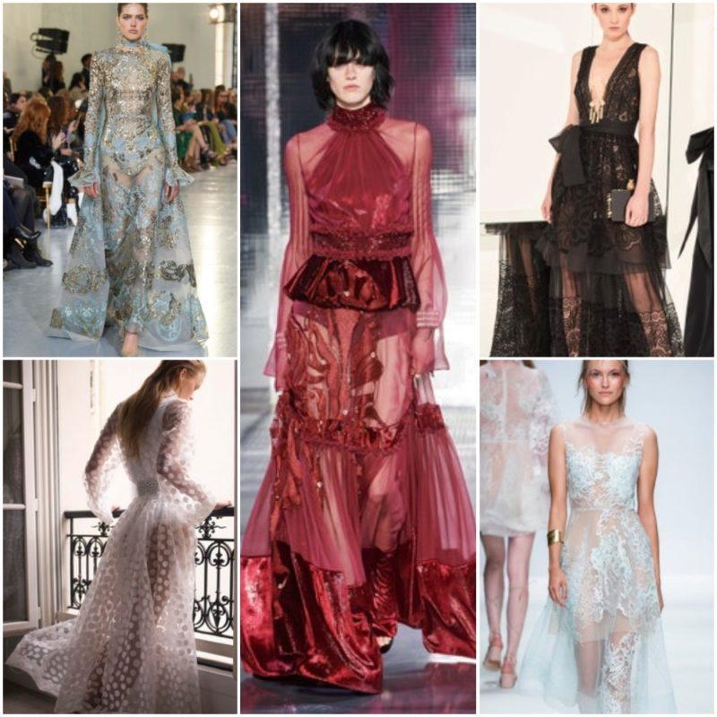 Vestidos con transparencias Ropa Moda noche fiesta 2021