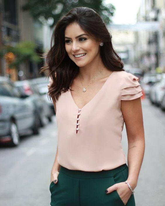 blusa elegante casual