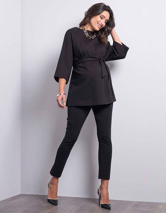 blusa y pantalon de vestir para embarazadas