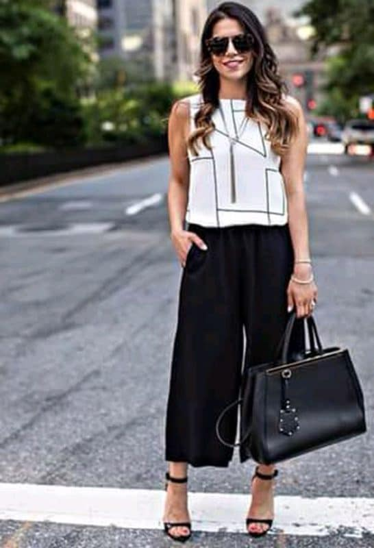 casual elegante con pantalon negro