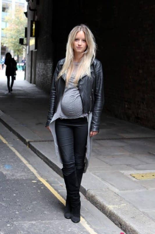 look noche juvenil embarazada