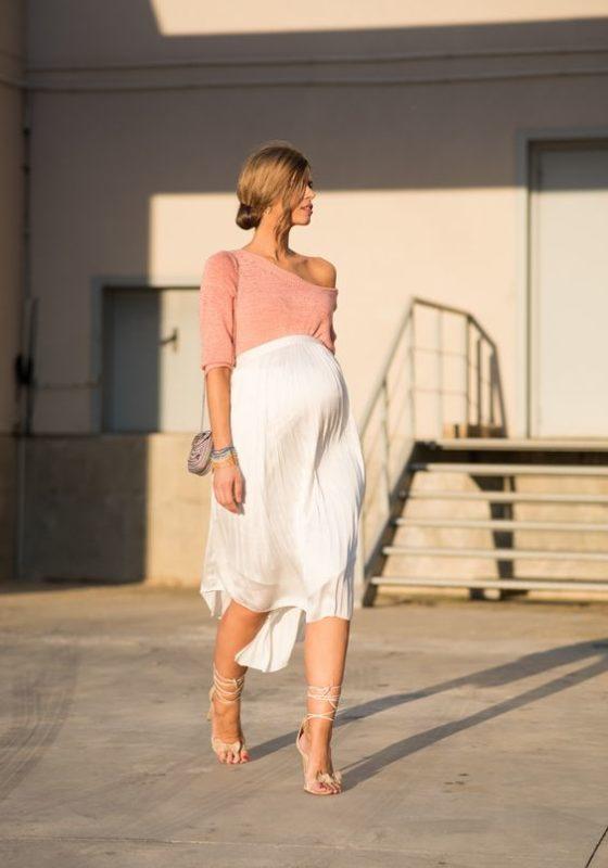 look para embarazadas con falda asimetrica