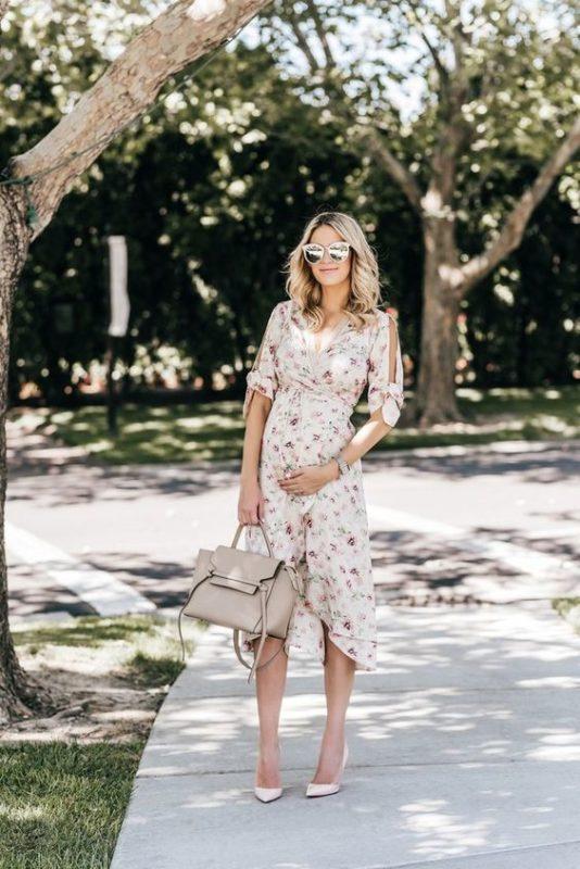 vestido asimetrico para embarazadas