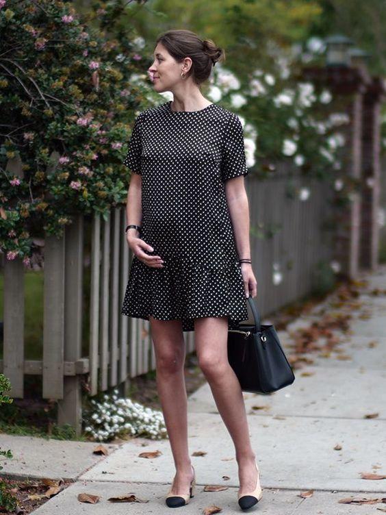 vestido corto amplio para embarazadas