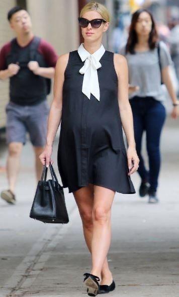 vestido corto formal para embarazadas