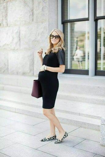 vestido corto negro para embarazadas