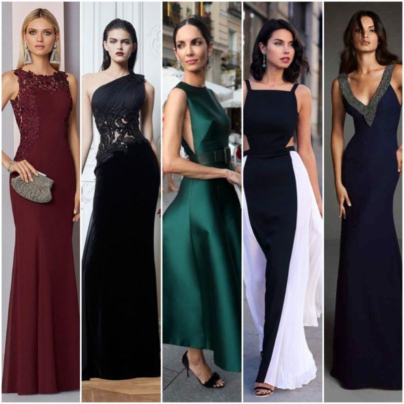 vestido de etiqueta negra mujer