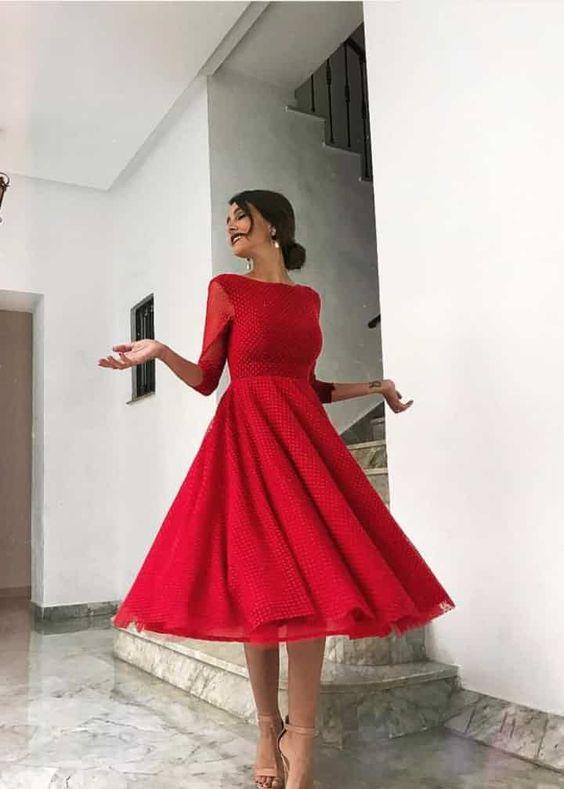 vestido de etiqueta opcional rojo