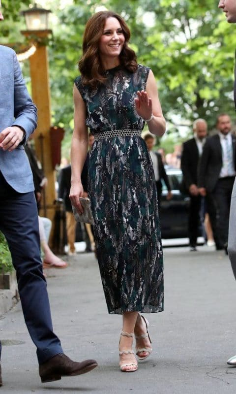 vestido largo estampado semi formal