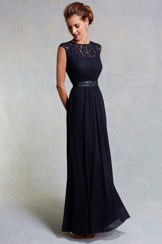 vestido largo etiqueta negra