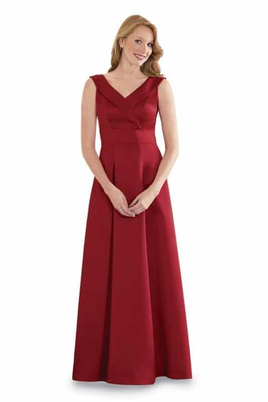 vestido largo rojo boda formal