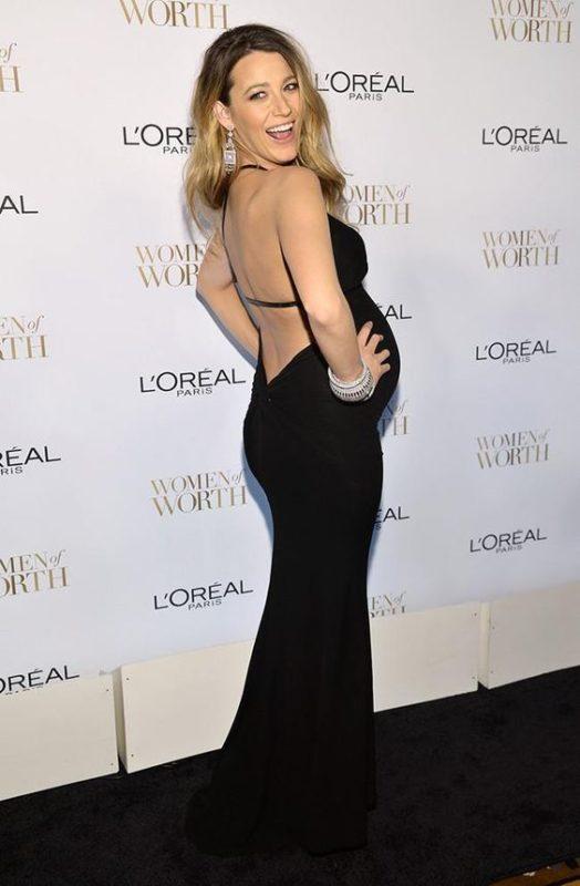 vestido negro espalda abierta para embarazadas