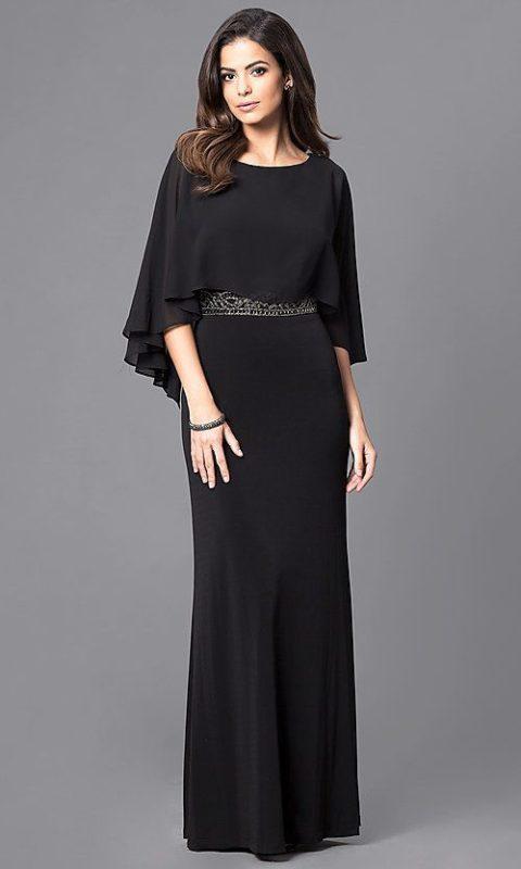 vestido negro largo para una fiesta formal