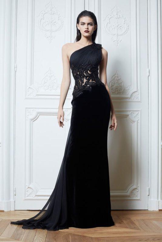 vestido para noche de gala negro