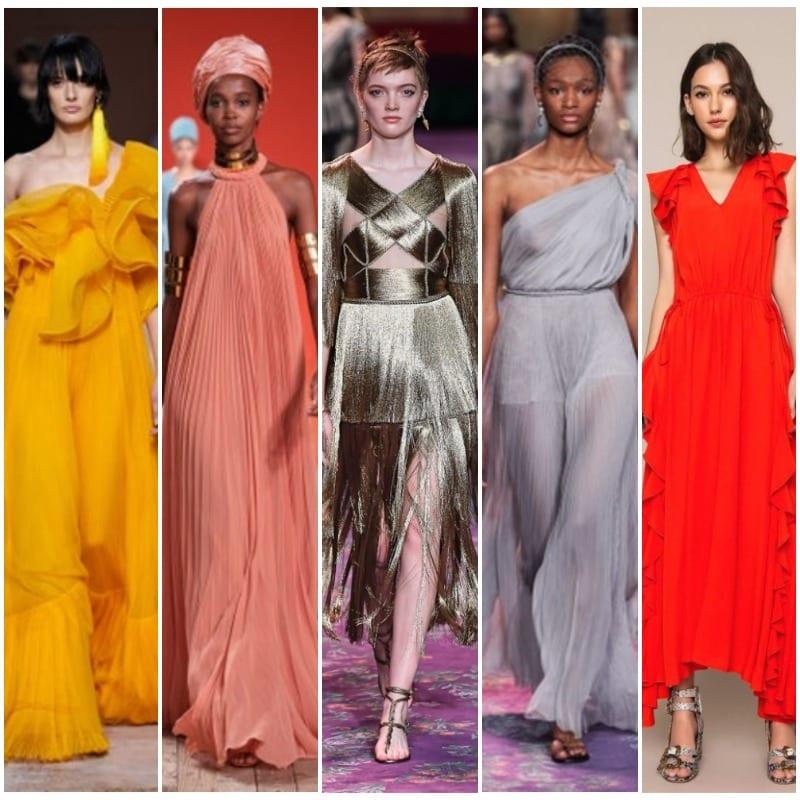 Colores de vestidos de fiesta para el verano 2020