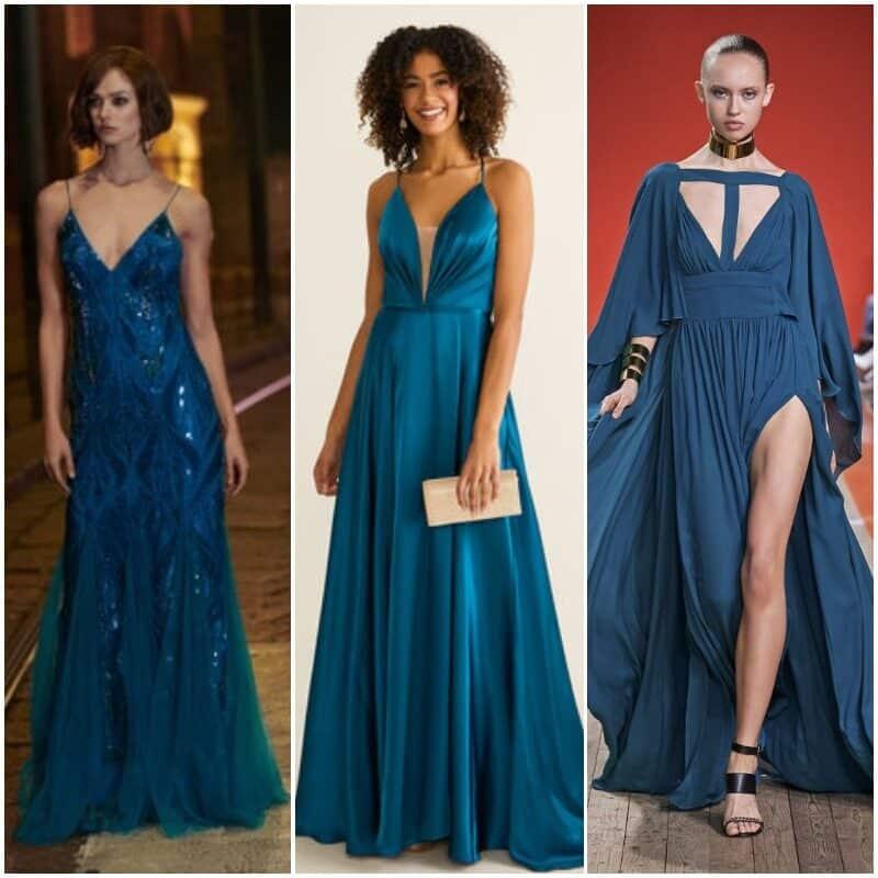 Verde azulado vestidos de fiesta 2021
