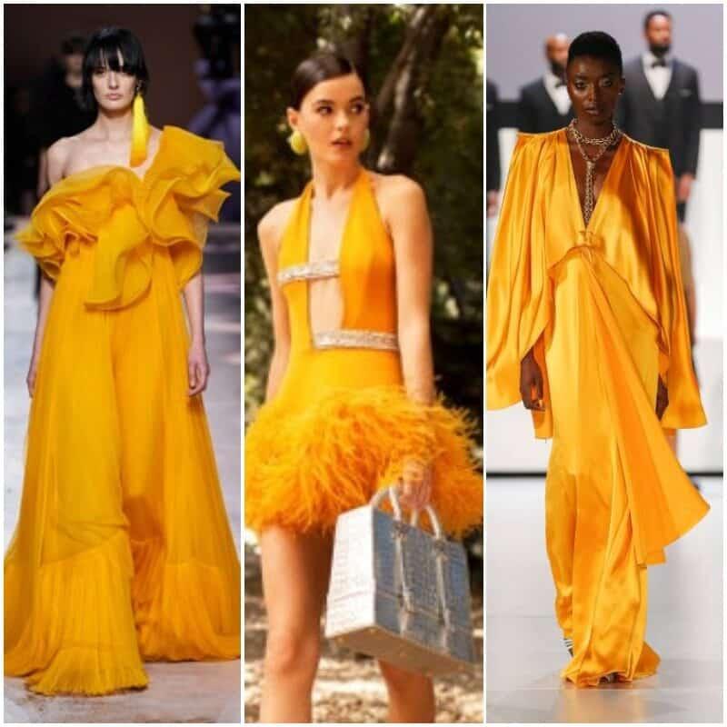 Vestidos amarillo azafran fuerte 2021 1