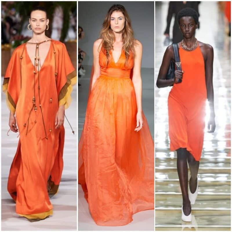 Vestidos de fiesta anaranjados 2021 1