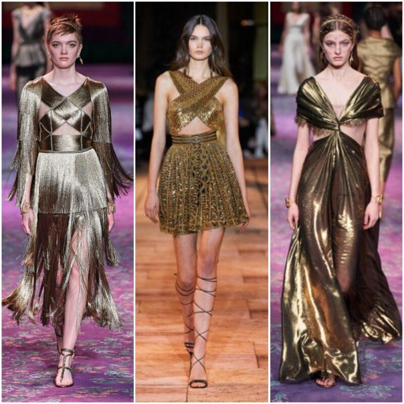 Vestidos dorados 2021