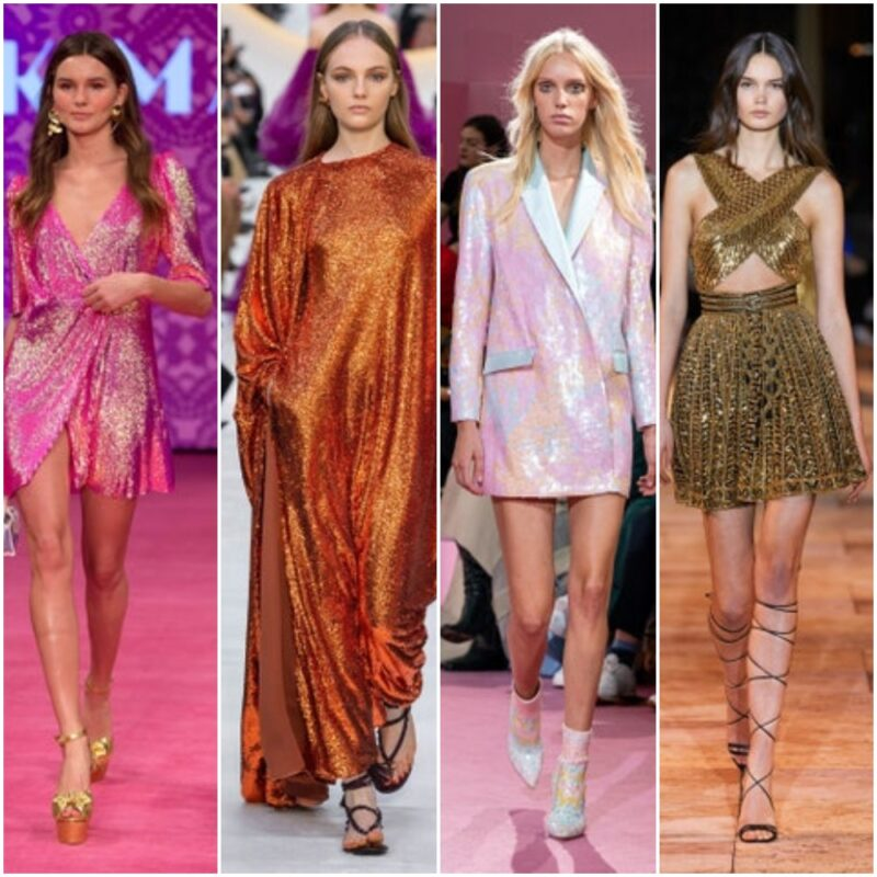 Vestidos metalizados con lentejuelas o lurex verano 2021