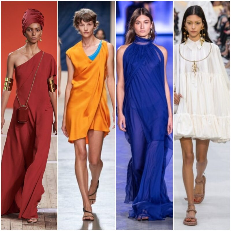 Vestidos simples estilo túnicas verano 2021
