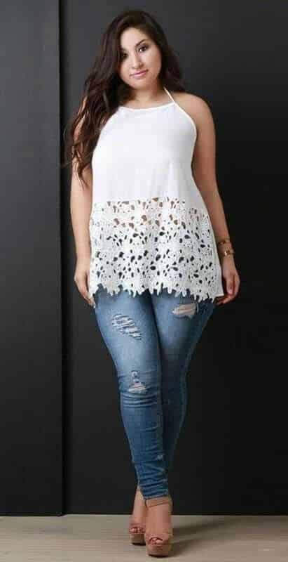 blusa musculos ay jeans rasgado gorditas