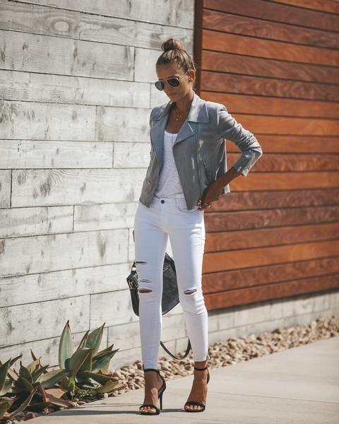jeans blanco look noche