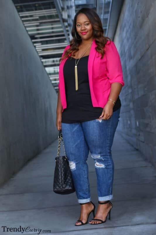 jeans y blazer color
