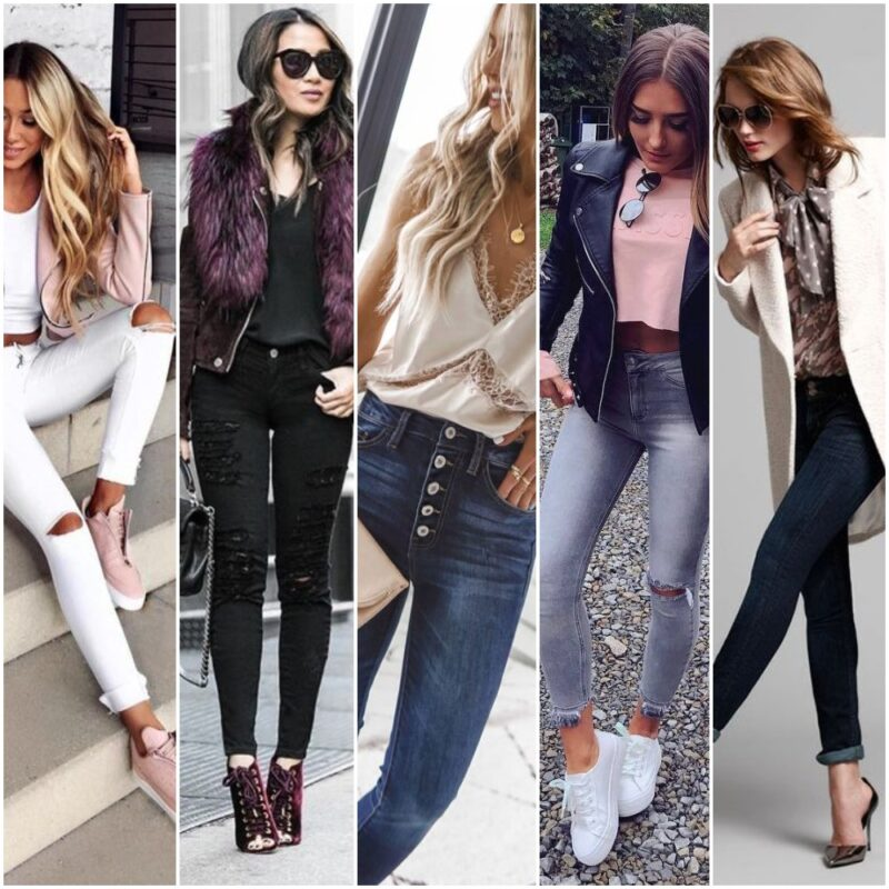 Look Noche Informal Con Jeans 2021 Qnoche
