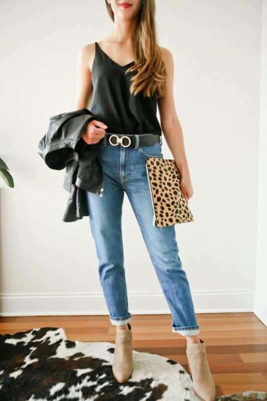 look noche informal con jeans