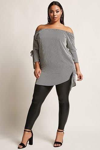 blusa larga y calza engomada talla grande