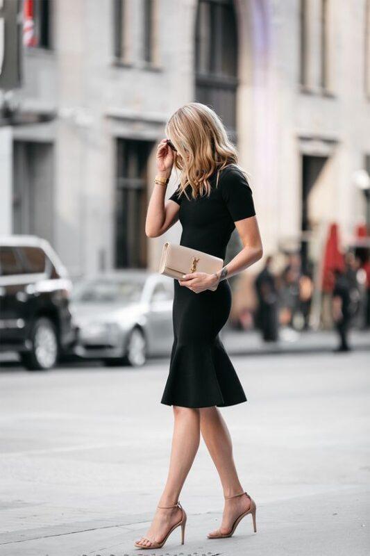 look noche con negro formal