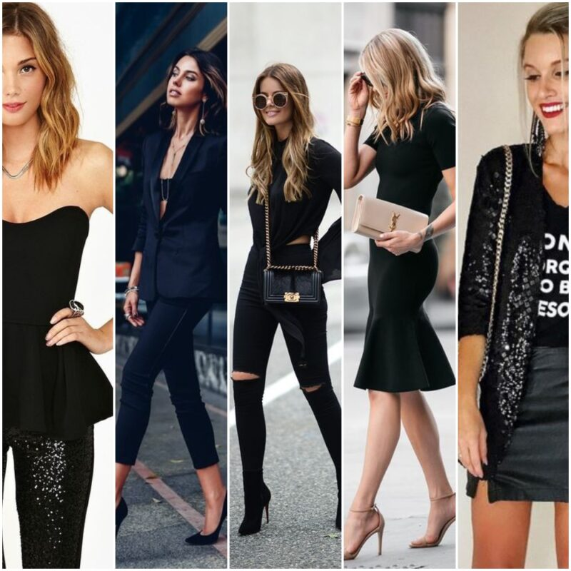 outfit negro para la noche