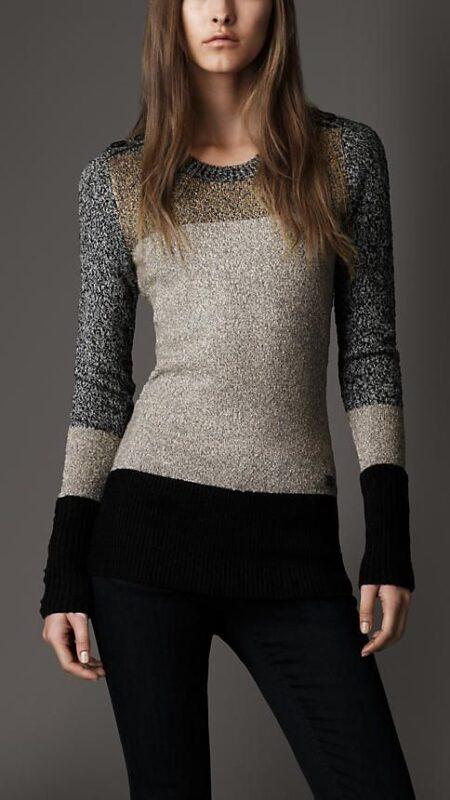 sweater con brillos para cena informal