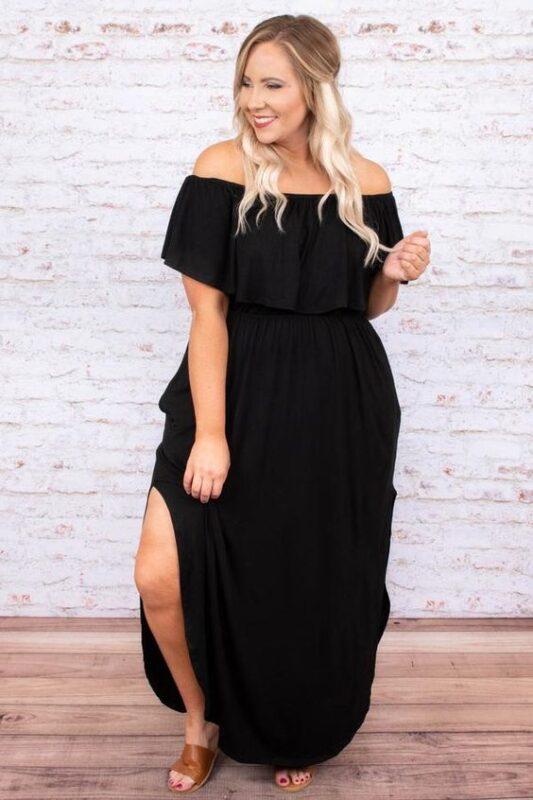 vestido bohochic negro para una noche informal