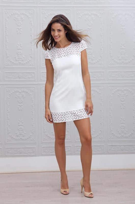 vestido corto noche con transparencia para noche