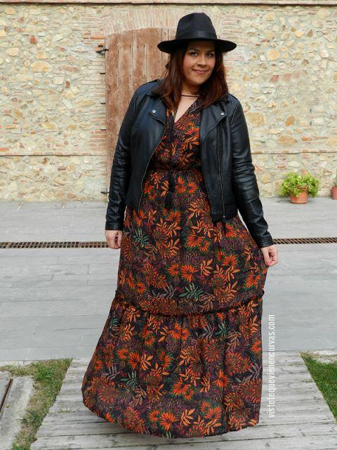 vestido largo estilo bohemio talla grande