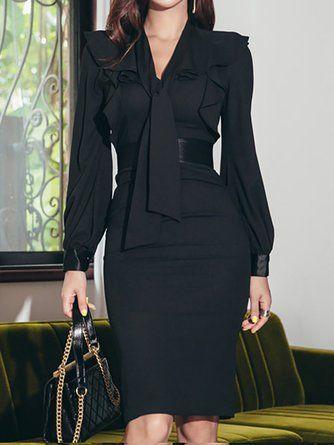 vestido negro para una cena formal