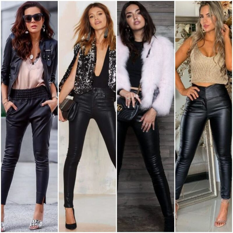 Outfit Para La Noche Con Pantalon Engomado 2021 Qnoche