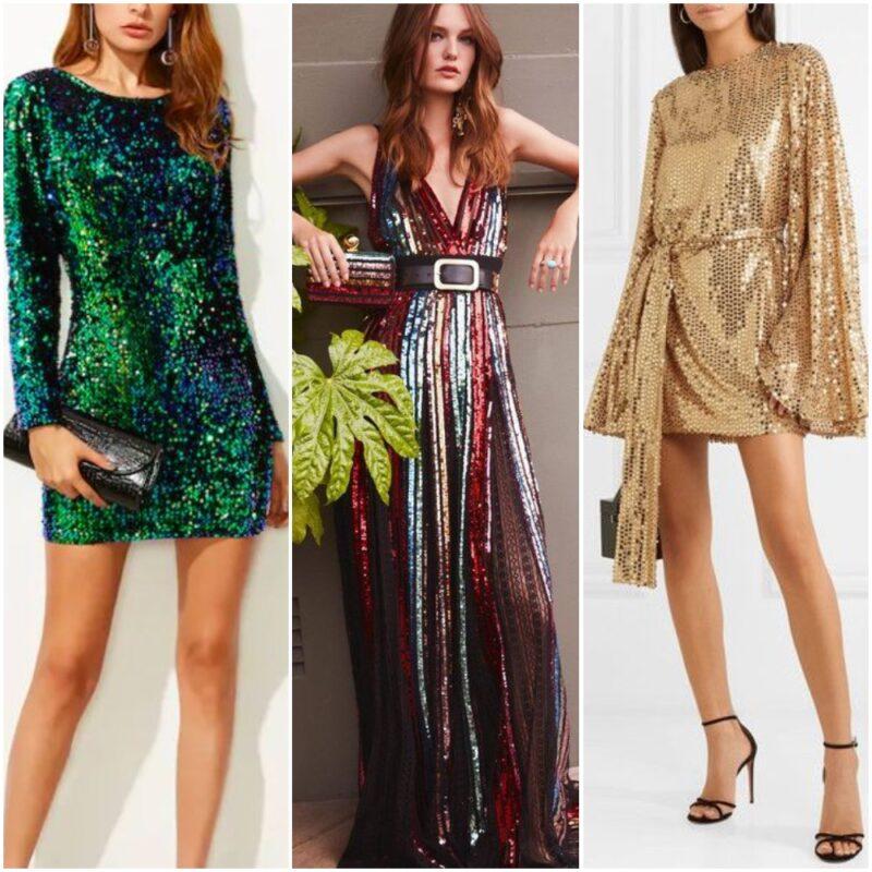 Vestidos bordados de lentejuelas para la noche de fiesta