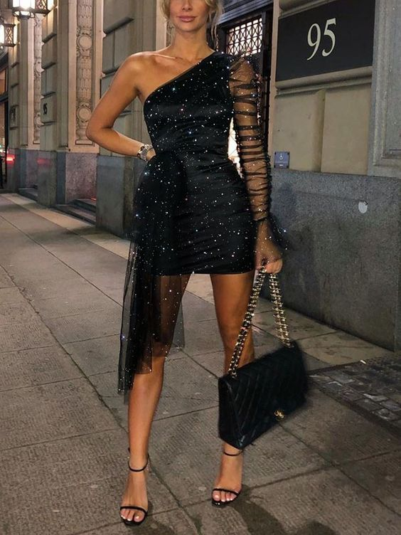 vestido ajustado para una fiesta de noche