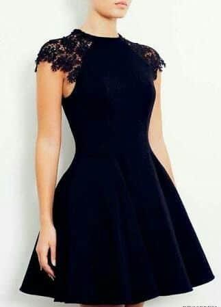 vestido corto negro elegante para la noche