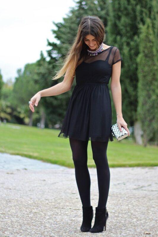 vestido corto negro para ir a bailar